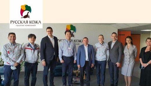 Представители Toyota Motors осмотрели производство ГК «Русская кожа»