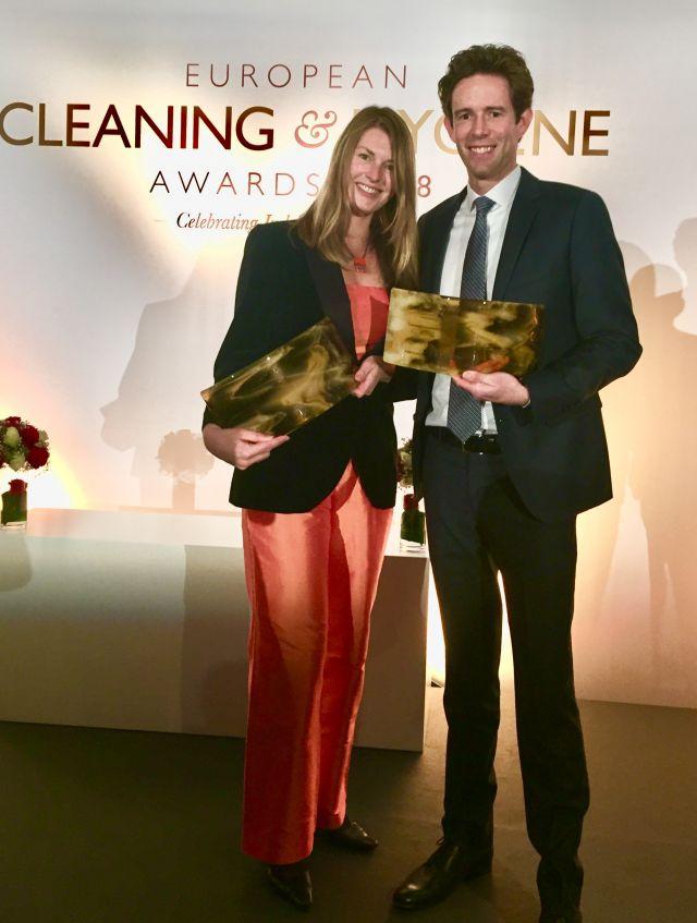 Компания Essity получила две награды European Cleaning and Hygiene за экологичное решение Tork EasyCube