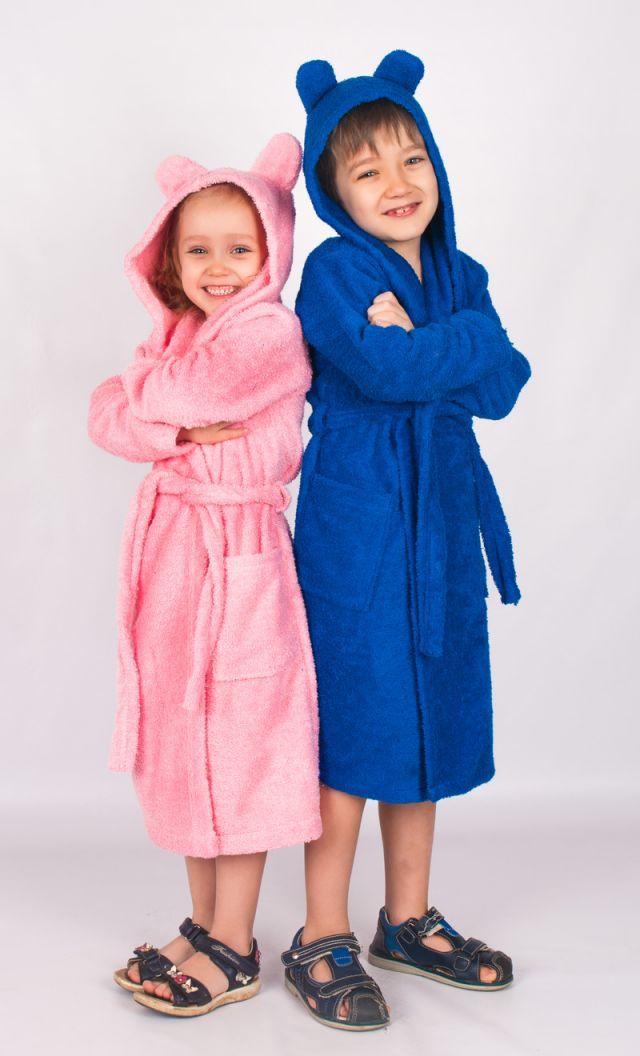 Новинка! Халаты банные махра с ушками для детей