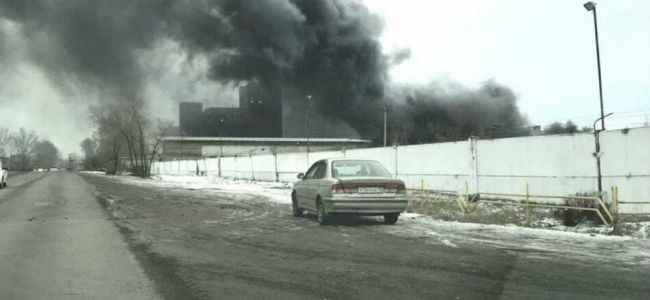 На заводе «Искож» произошел пожар