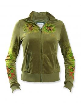 Велюровая куртка с печатью