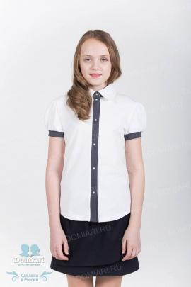 Рубашка трикотажная школьная для девочки