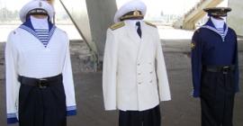 Морской вариант скандальной военной формы от В. Юдашкина