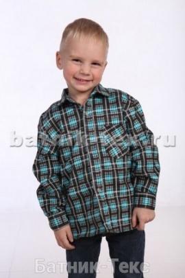 Рубашка детская дл. рукав, фланель