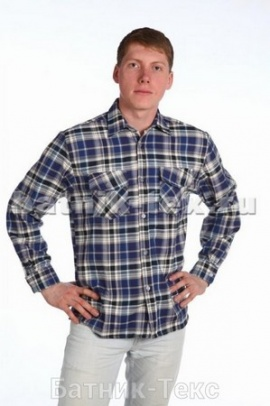 Рубашка дл. рукав 2 кармана, фуле