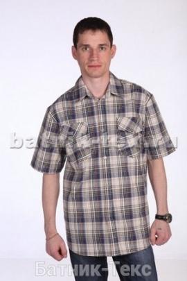 Рубашка кор. рукав 2 карм. Шотландка