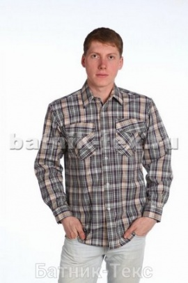 Рубашка дл. рукав 2 карм., шотландка
